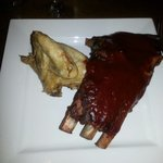 The delicious Chicken and ribs