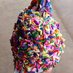 Twist cone from their ice cream shop in their gift shop
