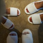 Complimentary room slippers for everyone!