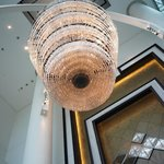 Chandelier at reception