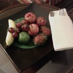 Room service with fruit
