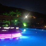 Lindos Garden Pool by Night