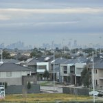 Melbourne city in the distance