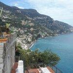 The Amalfi coast lies before you