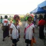 Met the 2 Kayan tribe ladies at U Bein
