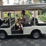 Transfer to your room by golfcar