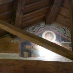 Another one of the original frescoes inside the restaurant (upstairs)
