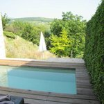 The plunge pool and view
