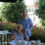 restaurant terrace at breakfast