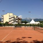 View from the tennis courts