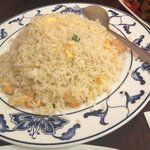 Rice with egg & prawns (should be dried shrimp)