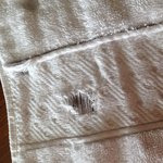 Holes in towels