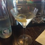 Vodka martini. Excellent here (David is the martini local guru)