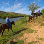 Morning ride at the King River bed