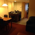 Living area/wet bar room 410