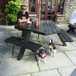 Enjoying the sunshine with Jack and Poppy