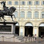 Equestrian statue of Duke Emmanuel Philibert.
