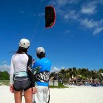 Learning the fundamentals of kite control with top-notch IKO certified instructor, Marco Conte.