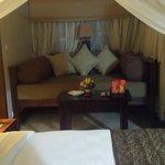 Day bed inside room