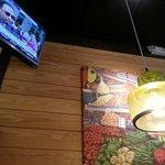 Decor, lighting and TV.