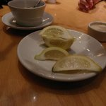 Clumped lemons for tea and water