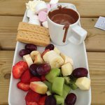 Sharing platter £7.95, could easily eat it all myself :-D beautiful. And we got some freebies af