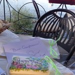 fabulous surprise birthday present of personalised soap from the hotel