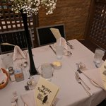 Nighttown table setting