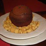 Postre, antes de ponerle el chocolate caliente