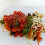 Schwertfisch mit Tomatengarnitur