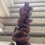 Modern art sculpture in entry atrium