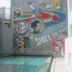Awesome mural poolside