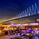 Reina Restaurant & Nightclub under the bridge where West meets East