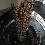 3-story tower of books written on Lincoln