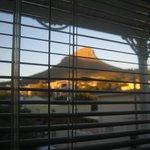 Blick vom Schlafzimmer auf den Lions Head