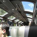 Trem com vista panorâmica