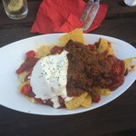 Nachos with Chilli Con Carne on! Yum