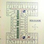 Floor plan of hotel rooms