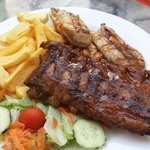 Chicken and rib combo