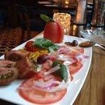 salade de tomates au diner