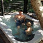 Hot  tub just outside master bedroom