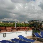 L'espace transat de la terrasse de toit panoramique