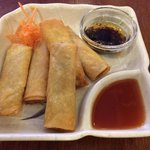 """Spring roll with """"chili oil"""" was fantastic...chili oil is not available on the table, so you mus"""