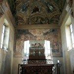 Inside the chapel of San Aquilino