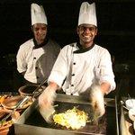 Chefs Rahul and Akbar on Maldivian night.