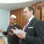 Imam Ramil waited for us for prayers in Helsinki Islamic Cultral Centre.