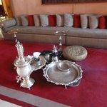 Enjoy Morrocan Tea in the lobby