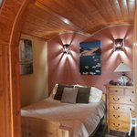 Cozy bedroom in Low Tide, beautiful woodwork.