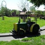 Stoer met de tractor
