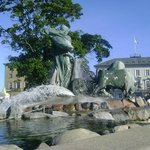 Gefion Fountain, Copenhague, Dinamarca.